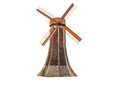 Dutch Windmill Isolated Royalty Free Stock Photo