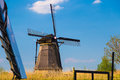 Dutch windmill at Kinderdijk, the Netherlands Royalty Free Stock Photo