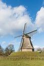 Dutch windmill in little village aalden in drenthe Stock Photo