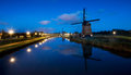 Dutch Windmills, Alkmaar Stock Image