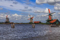 Dutch windmills Royalty Free Stock Photo