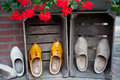 Dutch wooden shoes Royalty Free Stock Photo