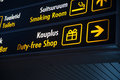 Duty Free board in Airport Royalty Free Stock Photo