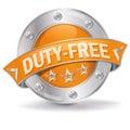 Duty free button Royalty Free Stock Photo