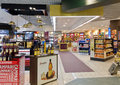 Duty free shop on malpensa airport in milan italy Royalty Free Stock Image