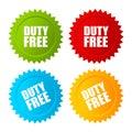 Duty free vector label