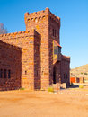 Duwisib castle. Pseudo-medieval fortress in southern Namibia, Africa Royalty Free Stock Photo