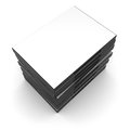 Dvd case blank black cd cases Royalty Free Stock Photo