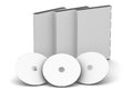 Dvd case blank black cd with discs Royalty Free Stock Image