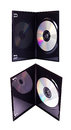 The DVD case with a disk isolated Royalty Free Stock Photo