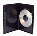 The DVD case isolated Stock Images