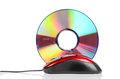 DVD and computer mouse Royalty Free Stock Images
