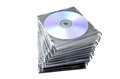 Dvd covers on white background Stock Photo
