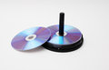 DVD disc stack Royalty Free Stock Photo