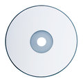 Dvd disk isolated on white background Royalty Free Stock Photo