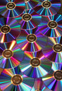DVD disks metallic reflection Royalty Free Stock Photo