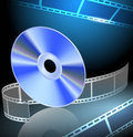 DVD and filmstrip Stock Photography