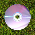 Dvd on the grass Royalty Free Stock Photo