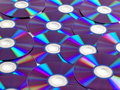 Dvd a lots of disks Royalty Free Stock Images