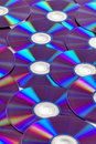 Dvd a lots of disks Royalty Free Stock Image