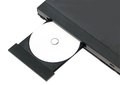 DVD In Open Tray. Royalty Free Stock Photo