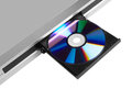 DVD player ejecting disc Royalty Free Stock Photo