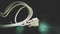 DVI Cable head port Royalty Free Stock Photo