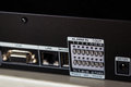 Dvr alarm input ports on back panel and other Royalty Free Stock Images