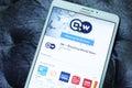 DW, deutsche Welle breaking world news mobile app Royalty Free Stock Photo