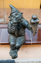 Dwarf bartonik wroclaw symbol of brass there are more than in the city and still they come Stock Photos