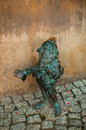 Dwarf turysta wroclaw symbol of brass there are more than in the city and still they come Stock Photo