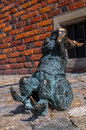 Dwarf wskers wroclaw symbol of brass there are more than in the city and still they come Royalty Free Stock Images