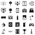 Dwelling icons set, simple style