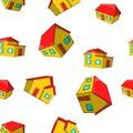 Dwelling pattern, cartoon style