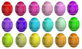 Dyed And Decorated Easter Eggs Stock Image