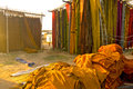 Dyeing works sanganer jaipur dye house in all traditional are handmade Royalty Free Stock Images