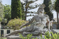 Dying Achilles statue of Achilleion palace on Corfu island, Greece Royalty Free Stock Photo