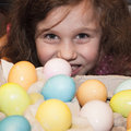 Dying Easter Eggs Stock Photo