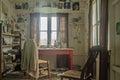Dylan Thomas writing shed, interior Royalty Free Stock Photo
