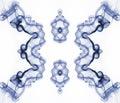 Dym fractal abstrakcyjne Zdjęcia Royalty Free