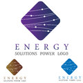 Dynamic energy logo concept symbol illustration icon Royalty Free Stock Photography