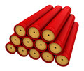 Dynamite d render of stick isolated over white backround Royalty Free Stock Photos