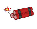 Dynamite drawing of three tied sticks Royalty Free Stock Images