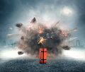 Dynamite exploding Royalty Free Stock Photo