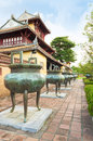 Dynasty dings or urns in imperial city of hue vietnam are the unesco world heritage site Stock Photo