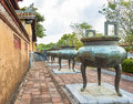 Dynasty urns in imperial city of hue citadel the the unesco world heritage site Royalty Free Stock Image