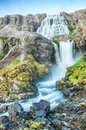 Dynjandi is the most famous waterfall of the west fjords and one of the most beautiful waterfalls in the whole iceland it is Stock Images