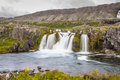 Dynjandi waterfall - Iceland. Stock Photo