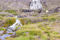 Dynjandi waterfall - Iceland, Westfjords. Royalty Free Stock Photos