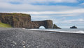 Dyrholaey arch rock in in southern iceland Stock Photo